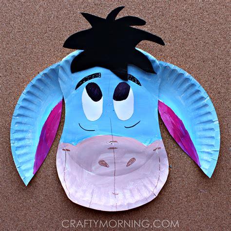 paper plate eeyore donkey craft  kids crafty morning