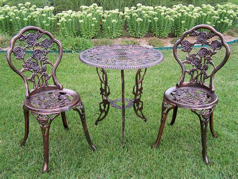 Oakland Living Rose 3pc Patio Bistro Set With Cast