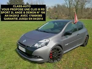Renault Clio Serie Limitée Trend 2017 : renault clio iii rs sport 2l 203cv an 04 2012 serie limit e ange et demon a 666 examplaires ~ Dode.kayakingforconservation.com Idées de Décoration