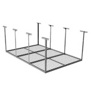 pricedepot fleximounts 4 x 6 overhead garage storage rack heavy duty adjustable garage
