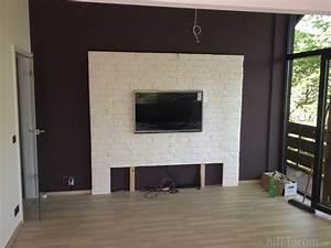 Steinwand Wohnzimmer Tv : steinwand wand mit stein pinterest steinwand fernsehwand und fernseher ~ Bigdaddyawards.com Haus und Dekorationen