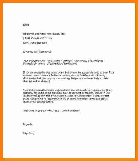 letter  termination  employee essay checklist