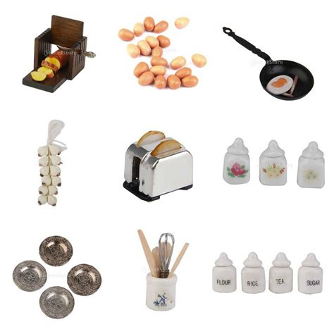 1 12 scale dollhouse miniature kitchen acessories food