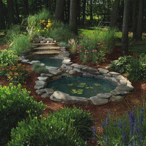backyard pond kits sunterra waterfall gardens complete pond kit two ponds