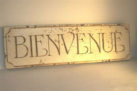 Bienvenue Country French DiSano home Rustic Welcome sign ...