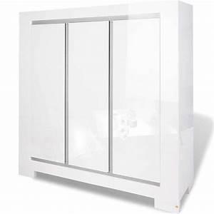 Kleiderschrank 3 Türig Weiß : pinolino kleiderschrank sky 3 t rig wei hochglanz online kaufen otto ~ Indierocktalk.com Haus und Dekorationen