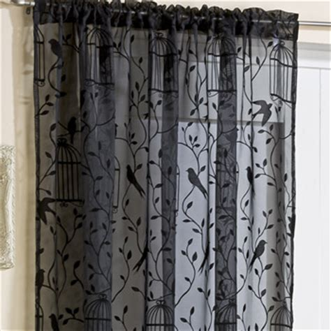 Nightingale Birdcage Voile Panel   Voile Panels   Curtains
