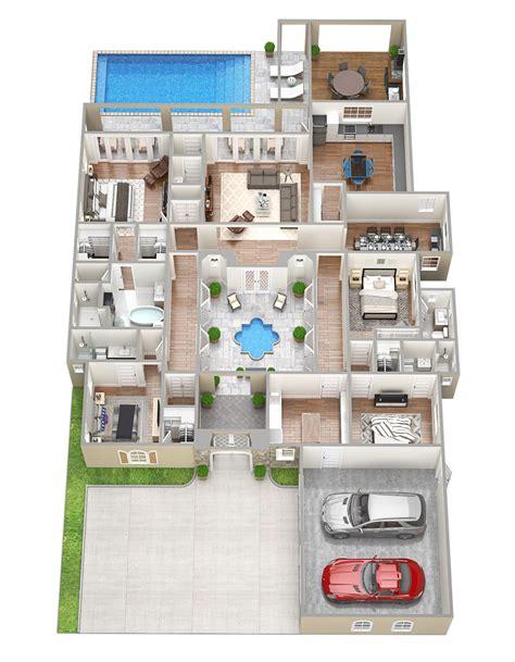ISABELLA Perfect 3D Floor Plans 4 bedroom house plan