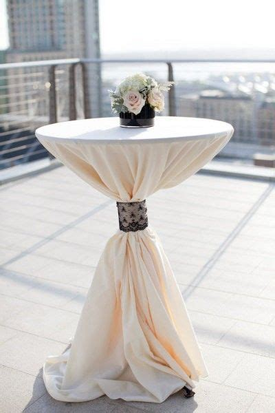 high top cocktail table cloths cocktail hour tables white table cloth mint instead of