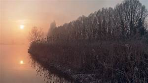 Lake, During, Foggy, Morning, Hd, Nature, Wallpapers