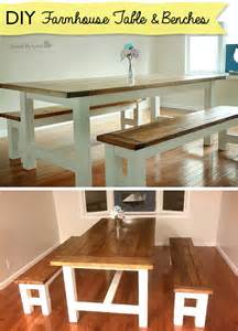 Farmhouse Table and Bench Plans