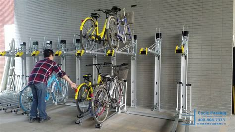 tier cycle rack  vertical liftars type youtube