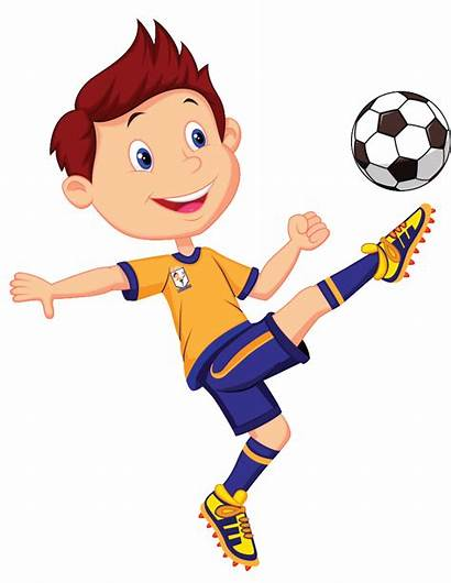 Football Soccer Playing Clipart Player Boys Players