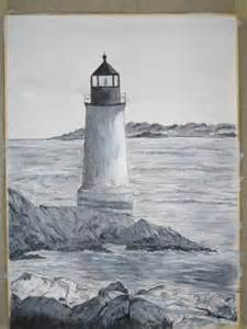 Black and White Lighthouse Sketches
