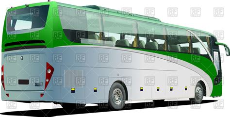 green tourist coach bus vector image vector artwork  transportation  leonido