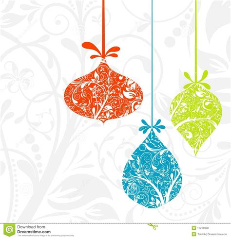 christmas card with an ornament stock photo image 17218920