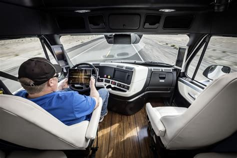 image freightliner inspiration truck  driving truck