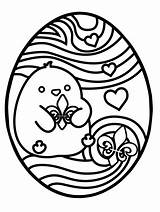 Easter Coloring Egg Printable Sheets Hunt Ready Pdf sketch template