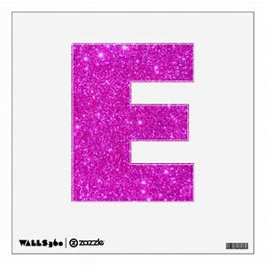 pink glitter sparkle wall decal letters glittery e zazzle With pink glitter letters