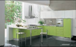 kitchens interiors modern green kitchen interior design stylehomes net