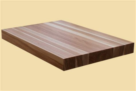 Custom Size Hickory Butcher Block  Prefinished Quote