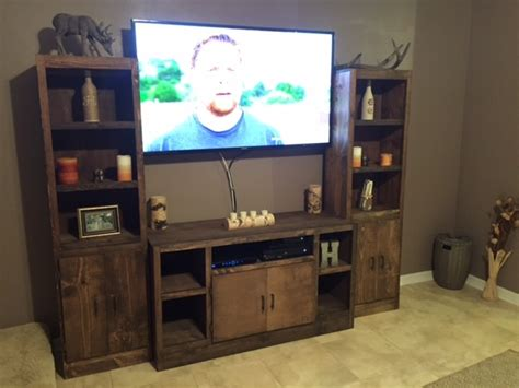 ana white rustic entertainment center diy projects