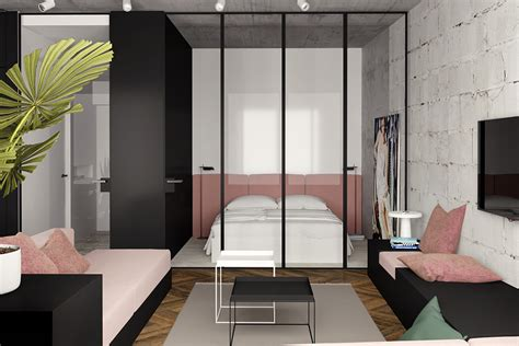 Bedroom Ls Glass by Great Inspiration Of Small Modern Studio Apartment Using