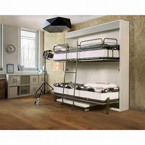 Lit Superposé Solde : armoire lits superpos s lit superpos rabattable galeries du mobilier ~ Teatrodelosmanantiales.com Idées de Décoration