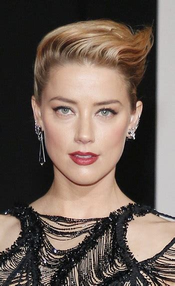 Hairstyles Amber Heard  Formal Updo