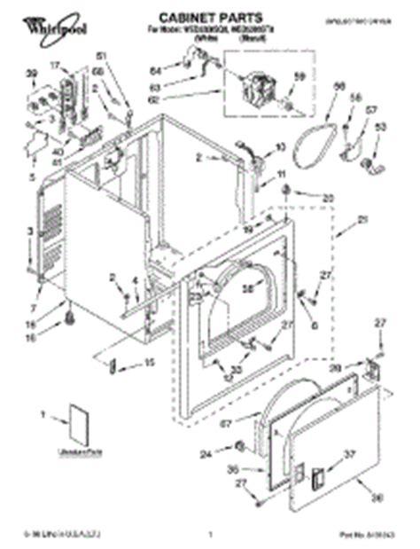 parts for whirlpool wed5300sq0 dryer appliancepartspros