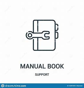 Manual Book Icon Vector From Support Collection  Thin Line