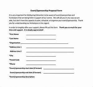 free sponsorship form template word excel pdf samples With sports team sponsorship proposal template