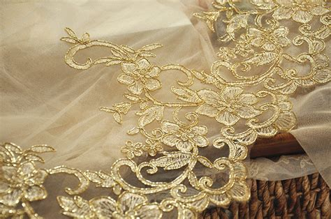 Buy Alencon Lace Trim In Gold For Wedding Gown , Bridals, Veils, Garters Wedding Workout For Groom Hair Updo Ponytail Bands North Wales Band Yellow Gold 18k Leggings Chapels British Columbia Jared Jewelers In Indiana