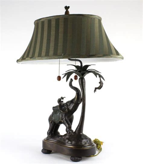 frederick cooper bronze elephant monkey desk lamp