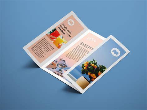 Free 4 Panel Fold Brochure Mockup Psd Mockups Free A4 Single Gate Fold Brochure Mockup Psd Set