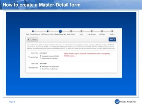 Apex  How To Create A Master Detail Form