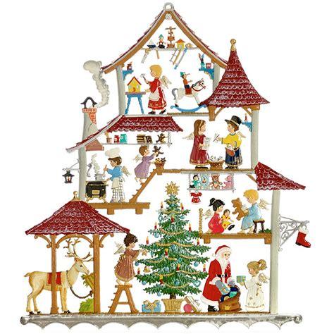 pewter santas workshop wall hanging christmas