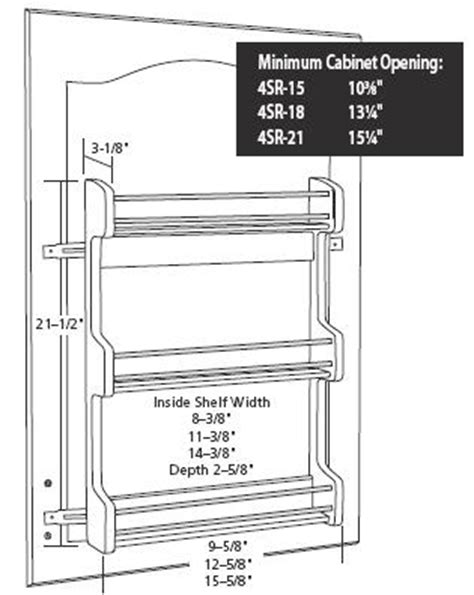 spice racks rta cabinet store