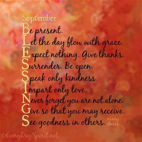 september blessings good goals  work