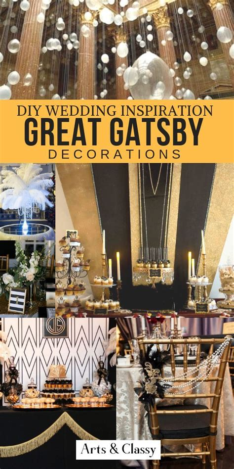 Great Gatsby DIY Wedding Decor Ideas + Inspiration