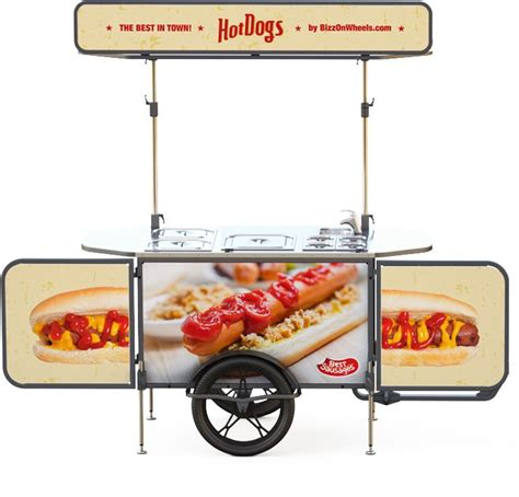 hot dog cart ideas  pinterest hot dog stand