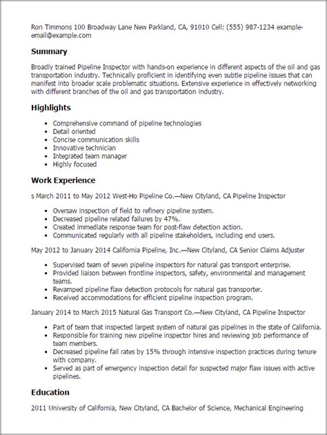 and safety inspector cover letter pipeline inspector resume template best design tips