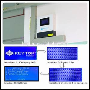 Keytop Parking Guidance Systems With 2 In 1 Forward