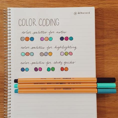 best color for studying 17 best ideas about color coding notes on pinterest college organization notes high school