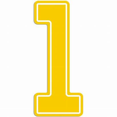 Yellow Number Sign Giant Outdoor Icon Party