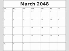 January 2048 Online Calendar Template