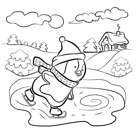 Winter Coloring Pages Winter Puzzle Coloring Pages Printable Winter Themed