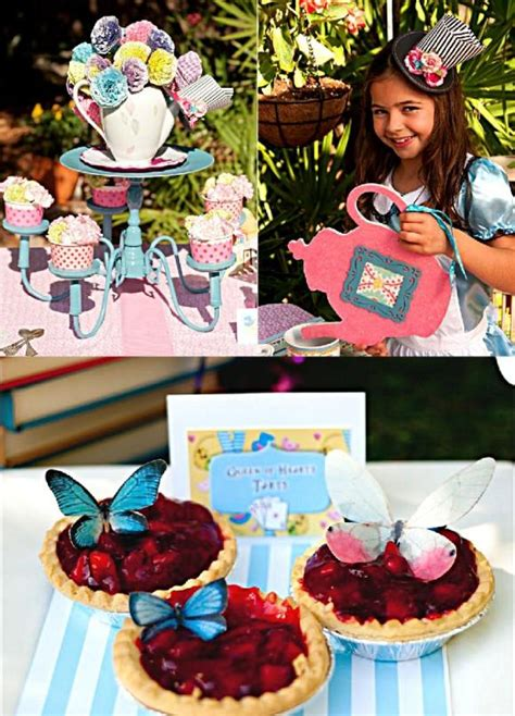 alice tea birthday party printables supplies birdspartycom