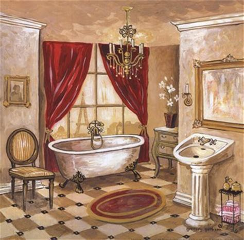 Persian Bath  Fineart Print  Contemporary Bathroom Art