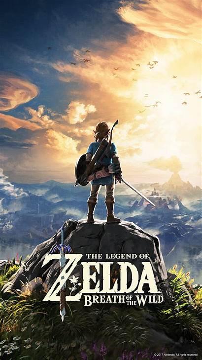 Zelda Breath Wild Mobile Wallpapers Legend Nintendo